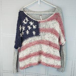 Free People | Flag sweater